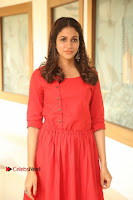 Actress Lavanya Tripathi Latest Pos in Red Dress at Radha Movie Success Meet .COM 0012.JPG