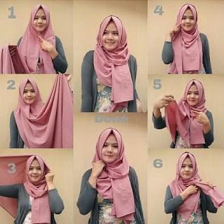 Kumpulan Tutorial Hijab Modern Terbaru Bahan Kaku