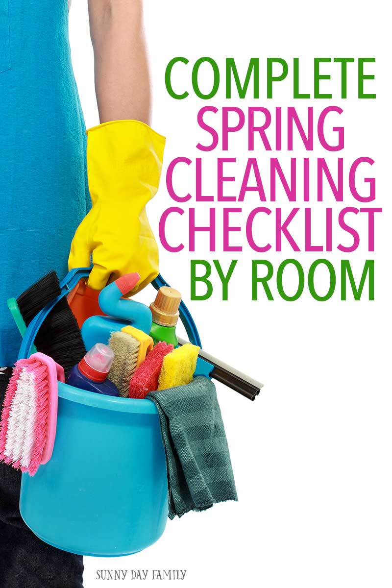 Everything you need to conquer your spring cleaning this year! Go room by room with this checklist and your house will be clean in no time. Perfect for deep cleaning any time of the year too!
