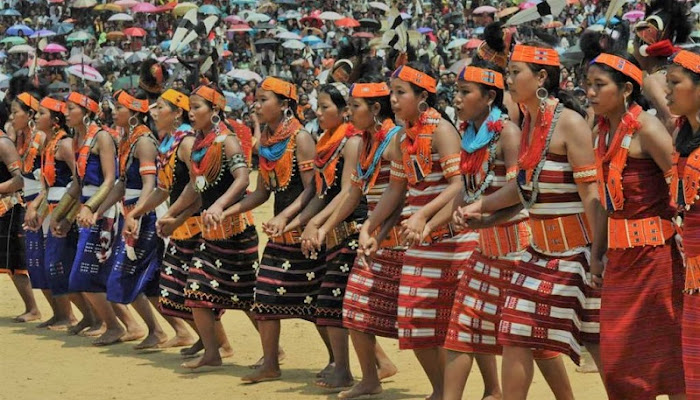 Around 5000 Konyak women from Mon, Nagaland dance together to set Guinness World Record
