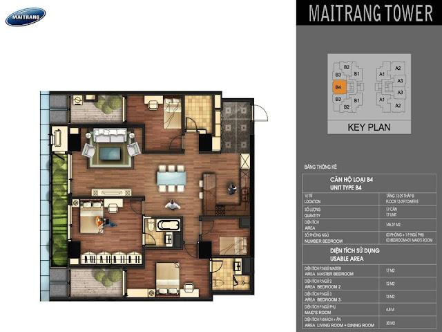 Mặt bằng chi tiết căn hộ Sunshine Center 16 Phạm Hùng