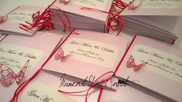 1 I coordinati nei toni del fucsia e rosa tenue di Dalila e Gian MarioColore Fucsia Colore Rosa Colore Rosa Cipria Partecipazioni intagliate Tema Farfalle