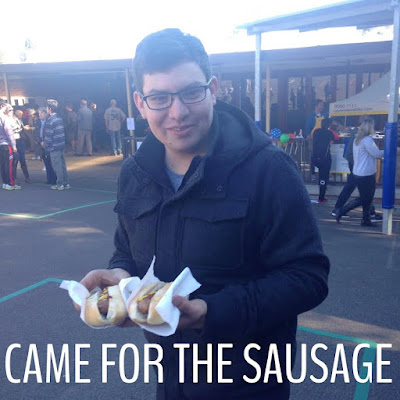 Just Came for the Sausage - Election Day Democracy Sausage