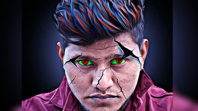 Face Crack Effect Real Ghost Editing Picsart Tutorial