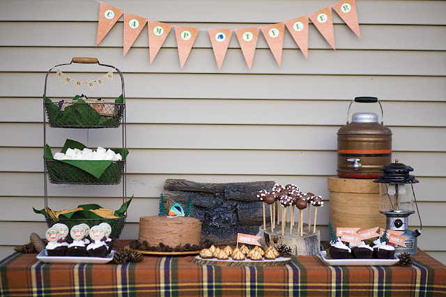 Camping Theme Party Ideas ~ Southern Blue Celebrations