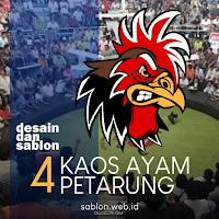Kaos Komunitas Penggemar Ayam Jago Petarung Sablon Kaos Online