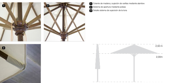 accesorios parasoles madera serie classic