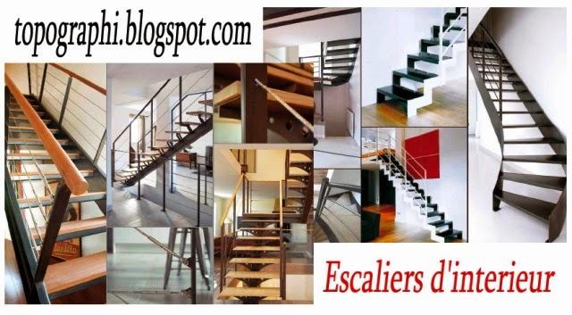 Topographie: Escaliers d\'interieur