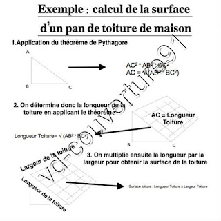 calcul surface pan de toit