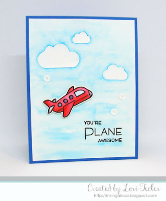 You're Plane Awesome card-designed by Lori Tecler/Inking Aloud-stamps and dies from Lawn Fawn