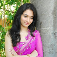 Tamanna in rose saree