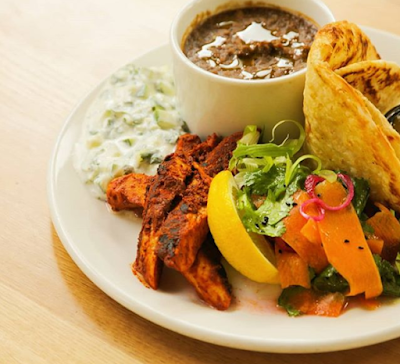 Vegan tandoori 'chicken' at Mildreds