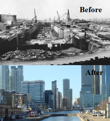 property led regeneration london docklands case study