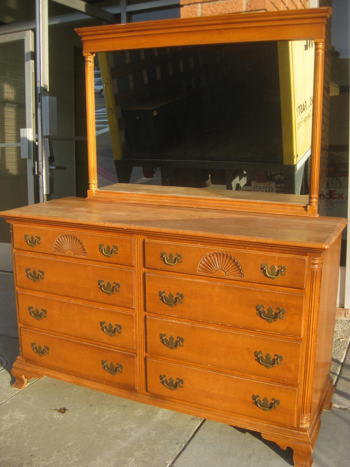 Uhuru Furniture Collectibles Sold Solid Maple Dresser And