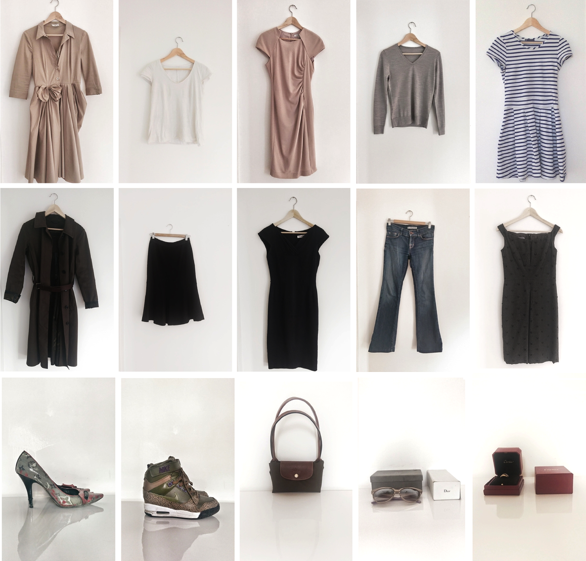 10 item wardrobe - neutral monochrome