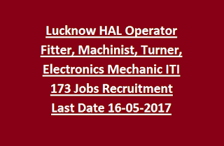 Lucknow Hindustan Aeronautics Limited HAL Operator Fitter, Machinist, Turner, Electronics Mechanic ITI 173 Jobs Recruitment 2017