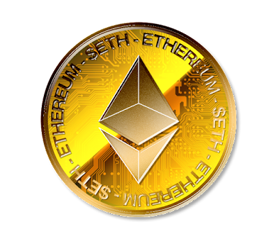 Ethereumのフリー素材(金貨ver)