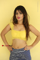 Cute Telugu Actress Shunaya Solanki High Definition Spicy Pos in Yellow Top and Skirt  0510.JPG