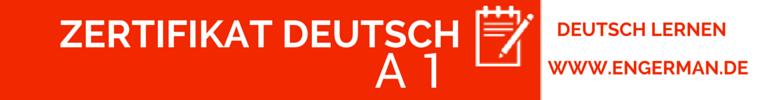 Zertifikat Deutsch A1