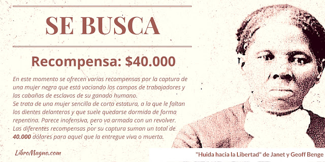 Recompensa de 40000USD por Harriet Tubman