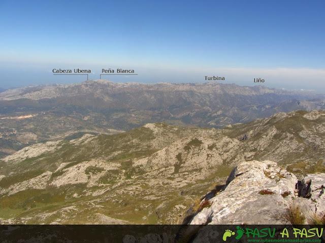 Vista desde la Jascal del Cabeza Ubena, Peña Blanca, Turbina y Liño