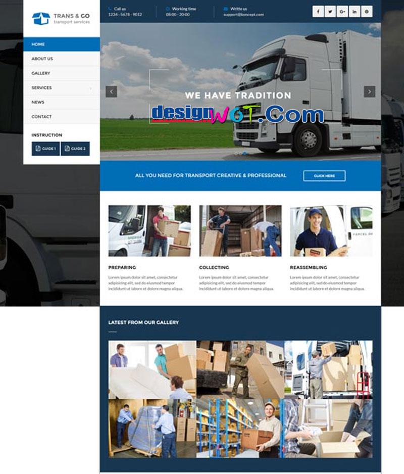 TransGo - Transport and Logistics WordPress Theme