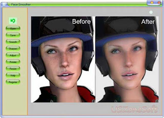 Face Smoother actually graphic program that your photos more clear, glowing and beautiful, photo brightness fixer, contrast fixer and color balance fixer software download