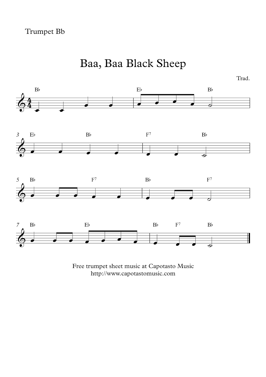 It is a picture of Unforgettable Free Printable Sheet Music for Trumpet