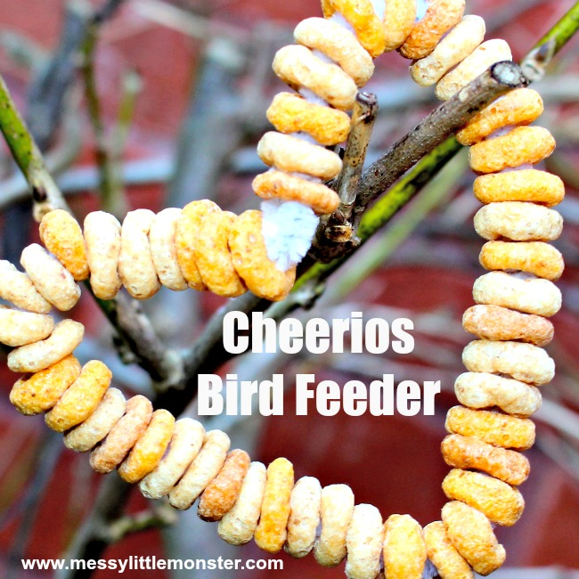 Easy Cheerios Bird Feeders