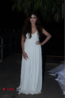 Telugu Actress Model Sony Charishta Pos in White Long Dress at Nanna Nenu Na Boyfriends Audio Launch  0204.JPG