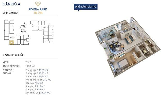 Phối cảnh căn hô A Rivera Park