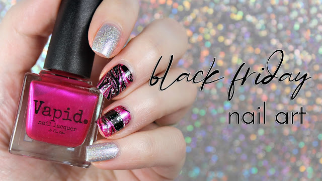Vapid Lacquer | Black Friday Nail Art