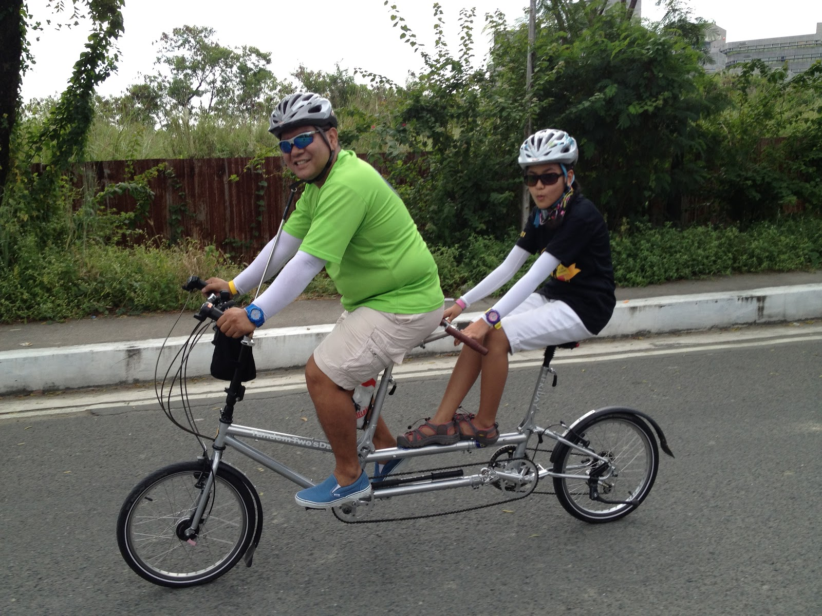 Riding A Folding Bike Around Manila