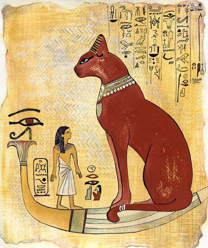 08-Inspired-By-Egyptian-Art-Veselka-Velinova-Paintings-of-12-Cats-in-Different-Art-Styles-www-designstack-co