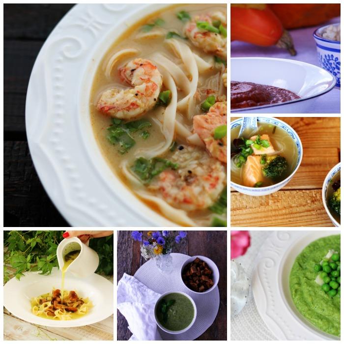 Zestawienie przepisów na zupy - kremy