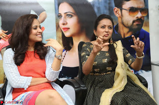Actress Suma in Black Salwar Suit and Anusuya in orange Dress at winner movie press meet part 2 February 2017 (30).JPG