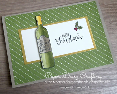 Card for Christmas using Half Full from Stampin' Up!