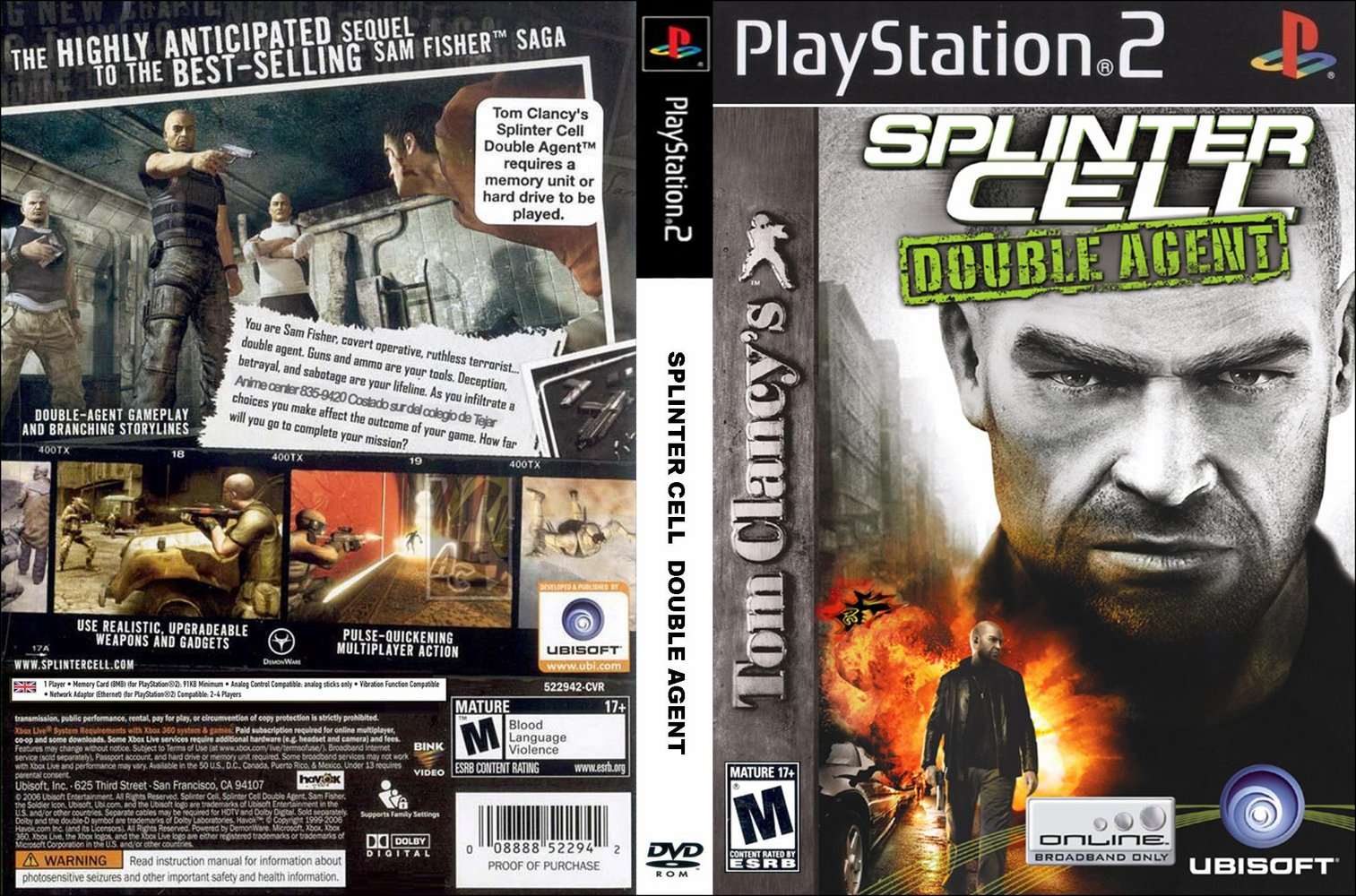 Baixar Torrent: Tom Clancys Splinter Cell Double Agent PS2 - 2,46 GB