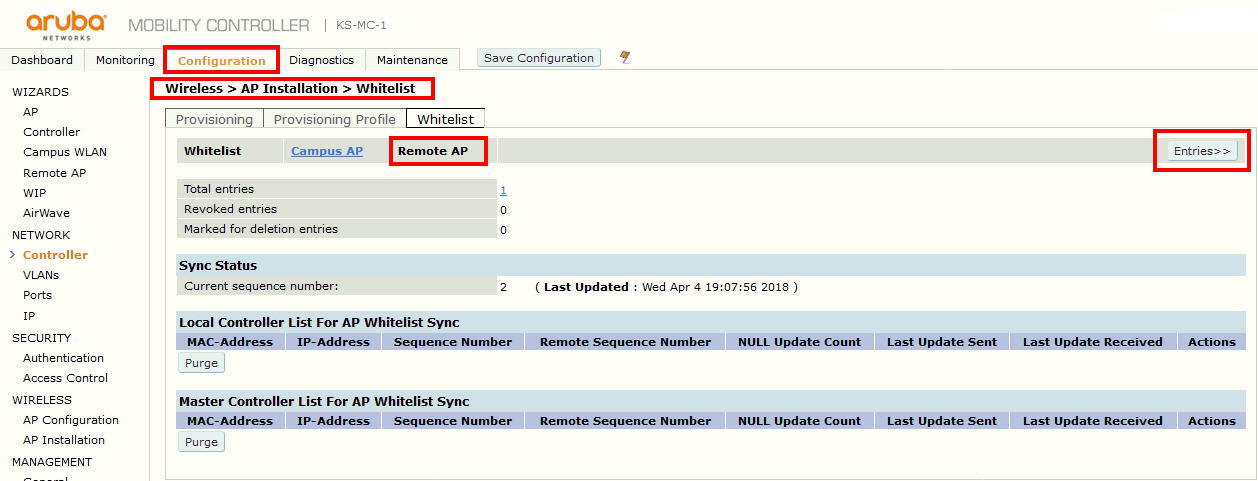 ThinGs-on-E: Aruba Remote AP (RAP) Configuration step-by-step