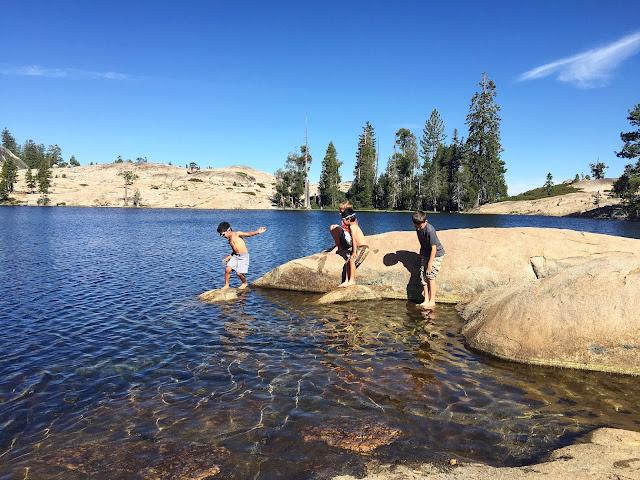 Playing at Shealor lake