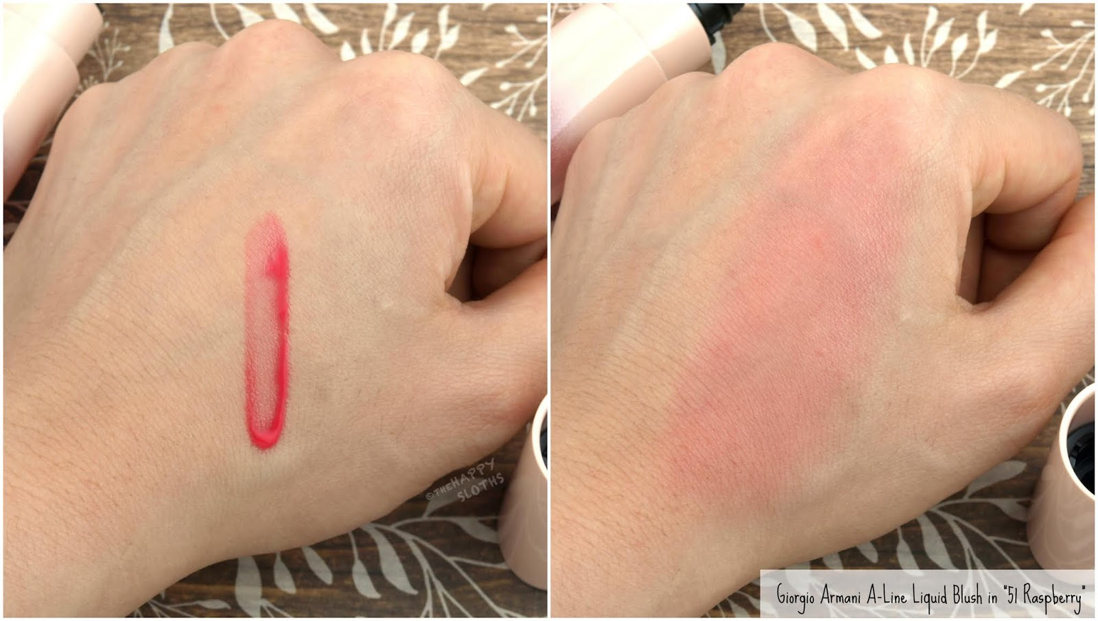 "Giorgio Armani Beauty | A-Line Liquid Blush in ""51 Raspberry"": Review and Swatches"