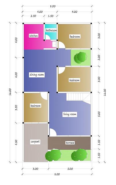 1st floor plan of beautiful house plan 30