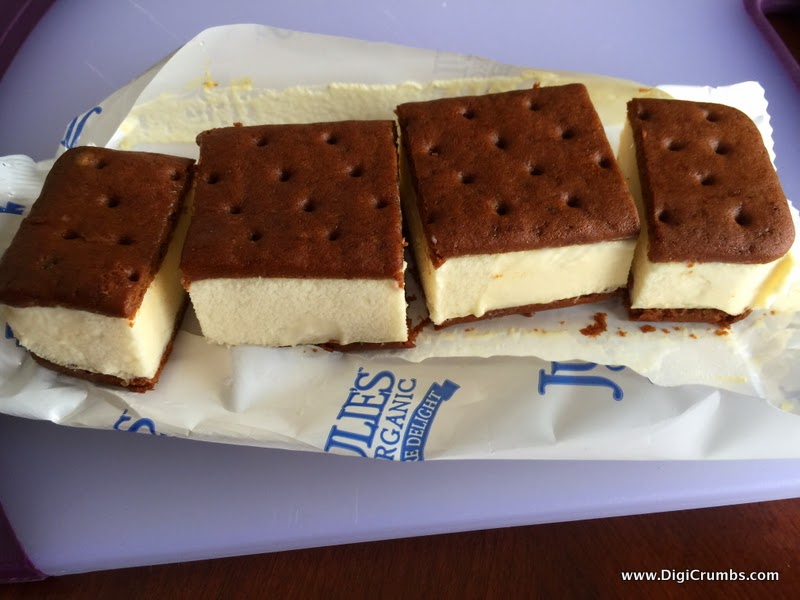 The Two Squares Rotating Second Layer To Create A Layered Ice Cream Sandwich Cake Stick Candle In Top And Call It Mini Birthday