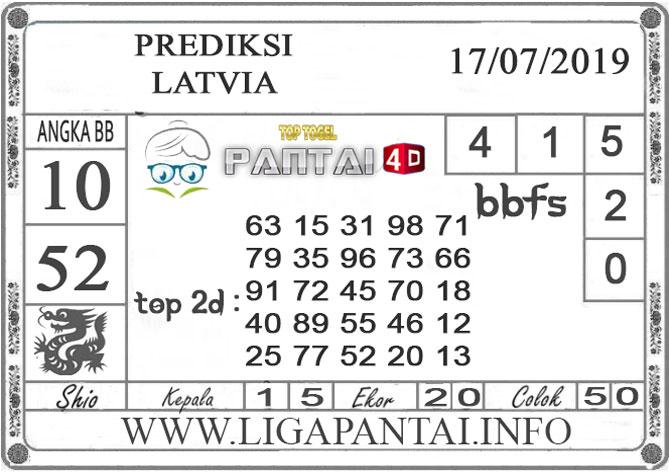 """PREDIKSI TOGEL """"LATVIA"""" PANTAI4D 17 JULI 2019"""