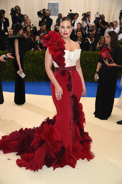 Ashley Graham at The Met Gala 2017 in a design by H&M