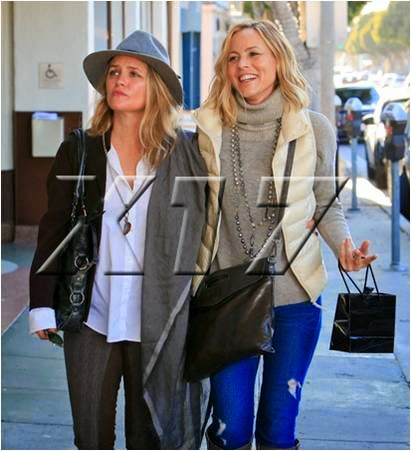 Trendy Maria Bello and Clare Munn in LA