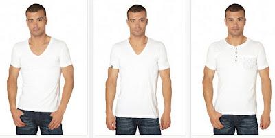 Camisetas en color blanco para hombres