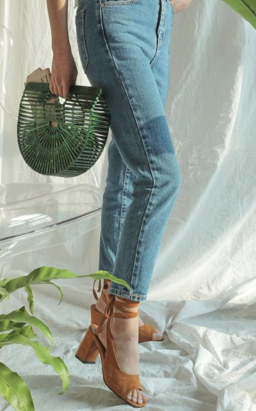 Self-Tie Wraparound Ankle Strap Pumps