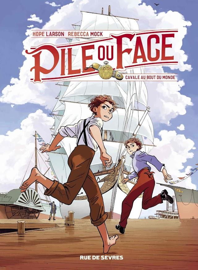 Pile ou face tome 1 - Cavale au bout du monde - de Hope Larson et Rebecca Mock