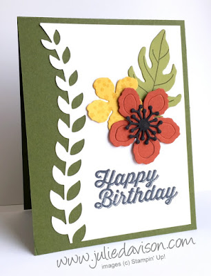 Stampin' Up! Botanical Builders + Perfect Pairings Birthday Card #stampinup 2016 Occasions Catalog www.juliedavison.com/clubs